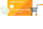 Icon with pie chart and credit card