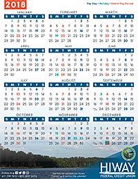 Payroll Calendars | Hiway Federal Credit Union