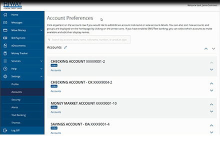 Account Preference Settings