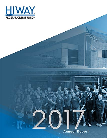 Picture of Hiway employees on the 2017 Annual Report cover