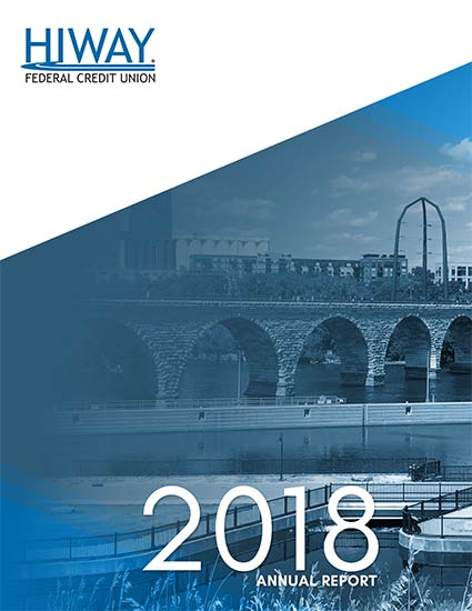 Picture of the Stone Arch Bridge on the 2018 Annual Report cover