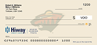 Minnesota Wild Branded Check Sample