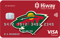 Minnesota Wild Branded Credit Card Sample