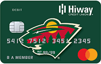 Minnesota Wild Branded Debit Card Sample