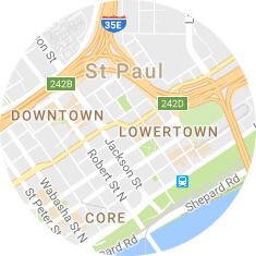 Map of Downtown St Paul